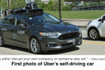 First Photo of Uber's Self- Driving Car